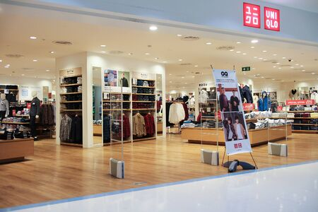 retailer: CHIANGMAI, THAILAND - AUGUST 15  2016:  Uniqlo store. Uniqlo Co., Ltd. is a Japanese casual wear designer, manufacturer and retailer. Photo at Central airport plaza chiang mai. Editorial