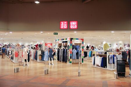 CHIANGMAI, THAILAND - AUGUST 15  2016:  Uniqlo store. Uniqlo Co., Ltd. is a Japanese casual wear designer, manufacturer and retailer. Photo at Central airport plaza chiang mai. 報道画像