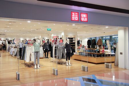 CHIANGMAI, THAILAND - AUGUST 15  2016:  Uniqlo store. Uniqlo Co., Ltd. is a Japanese casual wear designer, manufacturer and retailer. Photo at Central airport plaza chiang mai. Editoriali