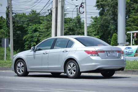 accord: CHIANGMAI, THAILAND -AUGUST 10 2016: Private car, Honda accord. On road no.1001, 8 km from Chiangmai Business Area. Editorial