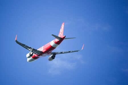 CHIANGMAI, THAILAND - SEPTEMBER  4  2016:  HS-BBM Airbus A320-200 of Thaiairasia. Morning Take off from Chiangmai airport to Hatyai. Editorial