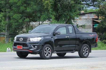CHIANGMAI, THAILAND -AUGUST 18 2016:  Private Pickup car, Toyota Hilux Revo. Photo at road no 121 about 8 km from downtown Chiangmai, thailand.