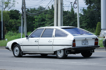 pallas: CHIANGMAI, THAILAND - OCTOBER 2  2016: Private Old car, Citroen CX 2400 Pallas. Photo at road no 121 about 8 km from downtown Chiangmai, thailand.