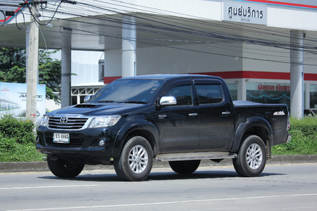 CHIANG MAI, THAILAND - OCTOBER 9  2016:  Private Pick up Car, Toyota Hilux Vigo. On road no.1001, 8 km from Chiangmai city. Editorial