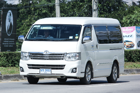 CHIANG MAI, THAILAND - NOVEMBER  13  2016: Private Toyota Ventury van. On road no.1001, 8 km from Chiangmai Business Area. Editorial