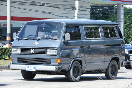 CHIANG MAI, THAILAND - NOVEMBER  13  2016: Vintage volkswagen van. Photo at road no.121 about 8 km from downtown Chiangmai, thailand.