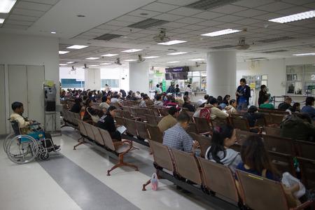 CHIANGMAI, THAILAND -JANUARY 11 2017: Sick people in hospital. Photo at Maharaj Nakorn Chiang Mai Hospital.