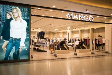 CHIANGMAI, THAILAND -JANUARY 18 2017: Mango shop. MANGO, is a clothing design and manufacturing company, founded in Barcelona, Spain. Photo in Central Festival chiang mai.
