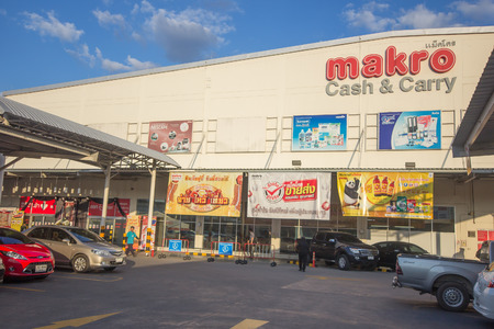 CHIANG MAI, THAILAND -JANUARY 26 2017: Makro Hypermarket Hangdong Chiang mai. Location on road chiangmai hangdong road about 3 km from city.