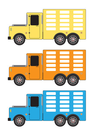 Set of Vintage Truck vector isolated on white background