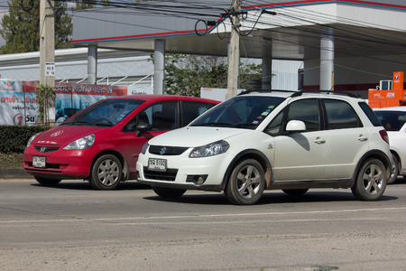 CHIANG MAI, THAILAND -JANUARY 13 2017: Private SUV car, SUZUKI SX4. Photo at road no 121 about 8 km from downtown Chiangmai, thailand.