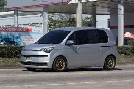 CHIANG MAI, THAILAND -JANUARY 16 2017: Mini Van from Toyota Automobile, Toyota Spade Mini MPV Van. On road no.1001, 8 km from Chiangmai city. Editorial