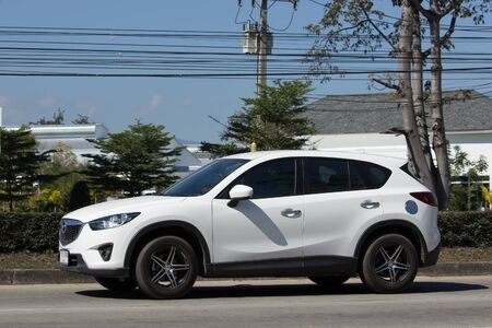 CHIANG MAI, THAILAND -JANUARY 16 2017: Private car, Mazda CX-5,cx5. On road no.1001, 8 km from Chiangmai Business Area.