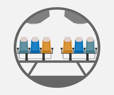 Passenger Narrow body Airplane Cross section Illustration