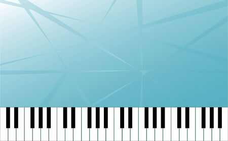 old notebook: Piano key and Abstract Space for Music idea Background Vector art and illustration.