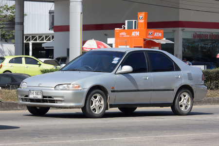 civic: CHIANG MAI, THAILAND -JANUARY 24 2017: Private car, Honda Civic. On road no.1001, North of city about 8 km from Chiangmai Center. Editorial