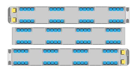 Passenger metro train seat map Vector and illlustration