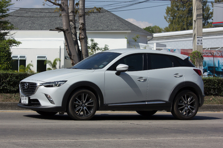 CHIANG MAI, THAILAND -JANUARY 24 2017: Private car, Mazda CX-3,cx3. Photo at road no 121 about 8 km from downtown Chiangmai, thailand.