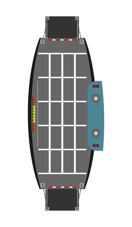 Top view of Car Ferry ship  vector  and illustration Banco de Imagens - 80441082