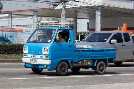 CHIANG MAI, THAILAND -JANUARY 27 2017: Private Mini Truck of Daihatsu Hijet. On road no.1001 8 km from Chiangmai city.