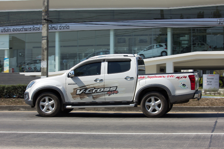 CHIANG MAI, THAILAND -JANUARY 29 2017: Private Isuzu D Max Pick up Truck. Photo at road no 121 about 8 km from downtown Chiangmai thailand. Editorial