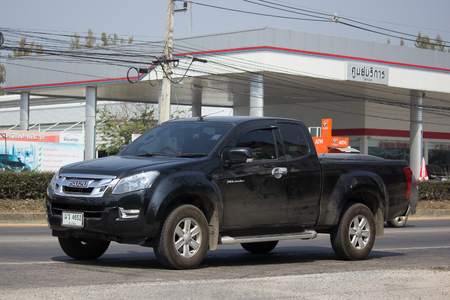 CHIANG MAI, THAILAND -FEBRUARY 16 2017: Private Isuzu Dmax Pickup Truck. On road no.1001 8 km from Chiangmai city. Editorial