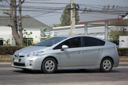 チェンマイ、タイ-2017 年 2 月 27 日: 自家用車トヨタ プリウスのハイブリッド システム。道路形 1001 号車チェンマイ ビジネス エリアから 8 km に 報道画像