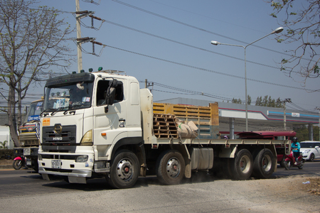 heavy: CHIANG MAI, THAILAND -FEBRUARY 27 2017: New Hino Truck 700 splendor. Photo at road no 121 about 8 km from downtown Chiangmai thailand. Editorial