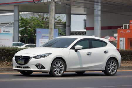 CHIANG MAI, THAILAND -MARCH 4 2017: Private car, Mazda3. Photo at road no.121 about 8 km from downtown Chiangmai, thailand.