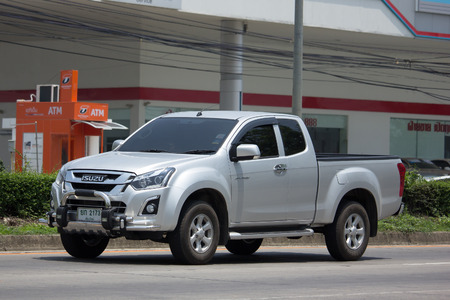 CHIANG MAI, THAILAND - MAY 22 2017: Private Isuzu Dmax Hi Lander Pickup Truck. On road no.1001 8 km from Chiangmai city.
