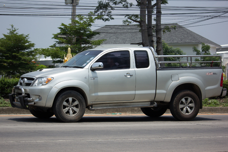 CHIANG MAI, THAILAND - MAY 22 2017: Private Toyota Hilux Vigo  Pickup Truck.  On road no.1001 8 km from Chiangmai city.