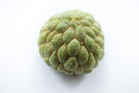 Close up of custard apple friut isolated on white background