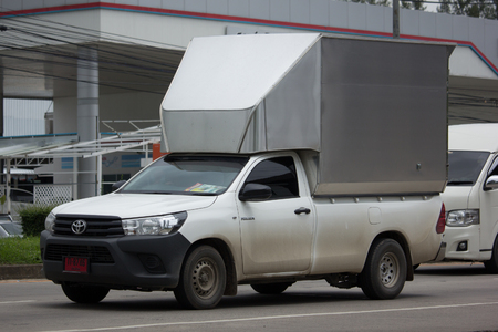 CHIANG MAI, THAILAND - JULY 24  2017:Private Pick up Car Toyota New Hilux Revo with Container. On road no.1001 8 km from Chiangmai Business Area.
