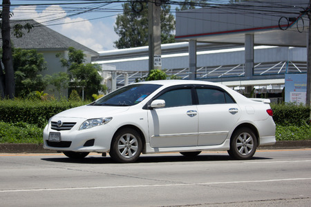 CHIANG MAI, THAILAND - JULY 27  2017:  Private car, Toyota Corolla Altis. Tenth generation. On road no.1001, 8 km from Chiangmai city.