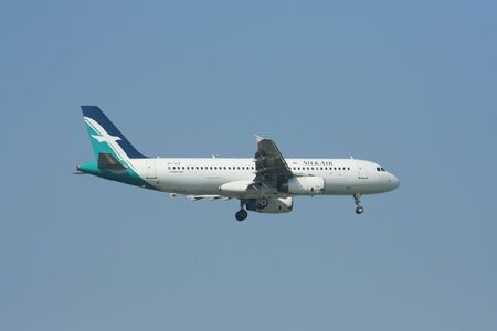CHIANG MAI , THAILAND - DECEMBER 3 2008: 9V-SLD Airbus A320-200 of Silkair, Landing to Chiangmai airport from Singapore. Editorial