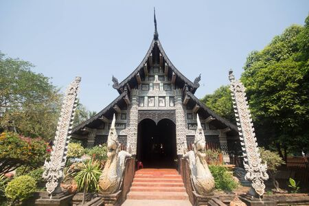 Wat lok molee, Old Temple in Chiang mai city ,thailand Editorial