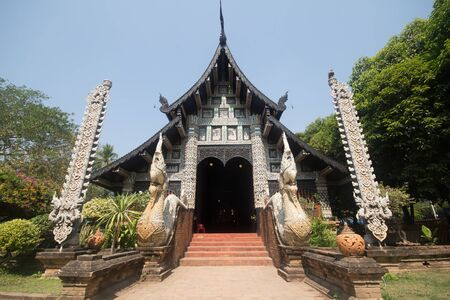 Wat lok molee, Old Temple in Chiang mai city ,thailand Stock Photo