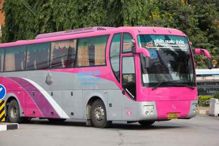 CHIANG MAI, THAILAND - AUGUST 12  2017: Benz  bus of Transport government company. For Rent to Travel. Photo at Chiangmai bus station.