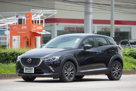 CHIANG MAI, THAILAND - JULY 28  2017: Private car, Mazda CX-3,cx3. Photo at road no 121 about 8 km from downtown Chiangmai, thailand.