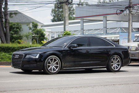 CHIANG MAI, THAILAND - JULY 28  2017: Private car Audi A8 Hybrid. On road no.1001, 8 km from Chiangmai Business Area. Editorial
