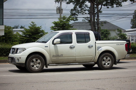 CHIANG MAI, THAILAND - AUGUEST 11  2017: Private Pickup car, Nissan Navara. On road no.1001, 8 km from Chiangmai Business Area. 新聞圖片