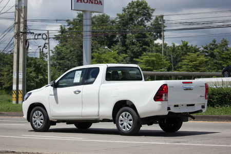 CHIANG MAI, THAILAND - AUGUST 22  2017:  Private Toyota Hilux Revo Smart Cab Pickup Truck.  On road no.1001 8 km from Chiangmai city.