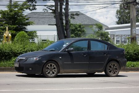 CHIANG MAI, THAILAND - AUGUST 28  2017:  Private car, Mazda3. Photo at road no.121 about 8 km from downtown Chiangmai, thailand. Editorial