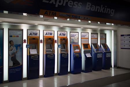 チェンマイ、タイ-2017 年 10 月 4 日: 中央カッド スアン ケオ チェンマイの ATM マシン。チェンマイの最初現代ビジネス広場。タイ ・ チェンマイ市か 報道画像