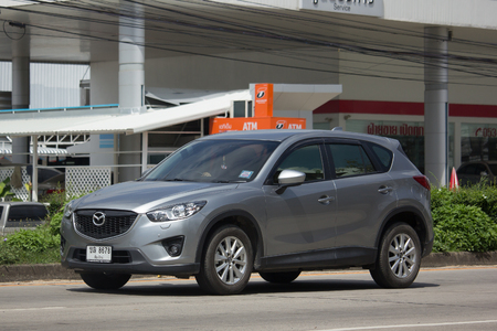 CHIANG MAI, THAILAND -OCTOBER 14 2017: Private car, Mazda CX-5,cx5. On road no.1001, 8 km from Chiangmai Business Area. Editorial