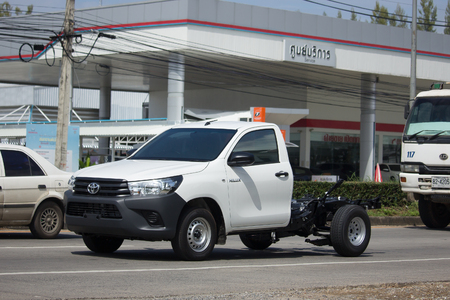 CHIANG MAI, THAILAND -OCTOBER 27 2017:  Private Pickup car, Toyota Hilux Revo Standard Cab. On road no.1001, 8 km from Chiangmai Business Area.
