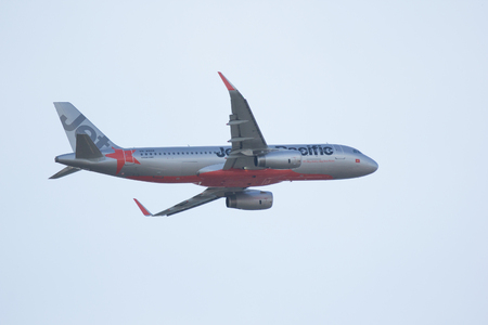 CHIANG MAI, THAILAND -NOVEMBER 10 2017:  VN-A568 of Jetstar Pacific Airlines. Take off from Chiangmai airport to Dong Hoi, Vietnam.