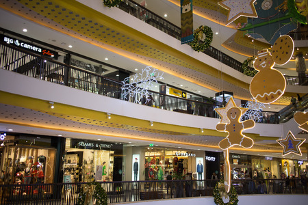 CHIANG MAI, THAILAND -DECEMBER 10 2017: Christmas  decorate Area in Central Festival Chiang mai. New Business Plaza of Chiangmai. About 3 Km. from Chiangmai City, Thailand.