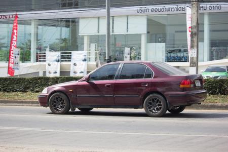 CHIANG MAI, THAILAND -NOVEMBER 28 2017: Private Sedan Car from Honda Automobil, Honda Civic. On road no.1001 8 km from Chiangmai Business Area.