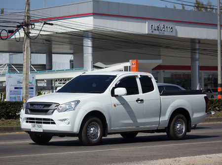 CHIANG MAI, THAILAND -NOVEMBER 30 2017: Private Isuzu Dmax Pickup Truck. On road no.1001 8 km from Chiangmai city.